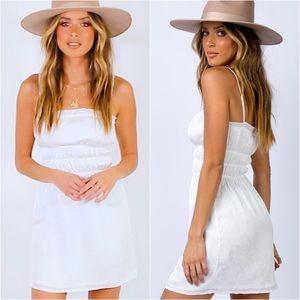 PRINCESS POLLY WHITE FLORAL MINI DRESS